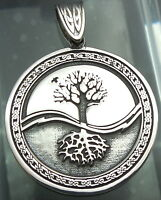 Pendant Celtic Tree Of Life Amulet Pagan 925 Sterling Silver