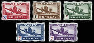 Senegal Scott C17-C21 Complete Set 1942 Airmail  VF MH OG (18943)
