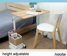 MOBILE OVERBED TROLLEY TABLE LAPTOP IPAD STUDY HOSPITAL HALL DESK HEIGHT ADJUST