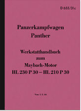 Maybach Panther Reparaturanleitung Panzerkampfwagen HDv Wehrmacht Manual Tank