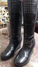 MICHAEL KORS Womens Dalila Studded Gray Wedge Boots Size 5 ~Nice