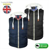 Clearance! Mens Body Warmer Gilet, Hooded Jacket Padded/Puffer Style | Vest Coat