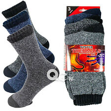 6 Pairs Mens Winter Thermal Super Warm Heated Socks Heavy Duty Boots Size 10-13