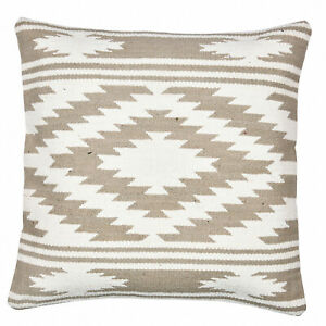 Cotton Pillow Cases Indian Kilim Rug Cushion Cover Hand Block Printed 18x18