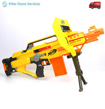 Nerf Stampede ECS N-Strike Automatic Blaster w/Extnd 12 Dart Mag, Shield, Tripod