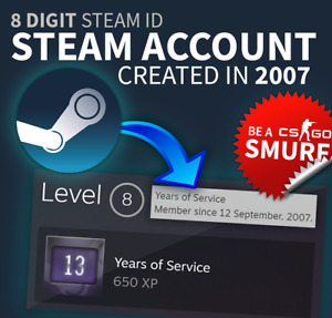 Old Aged STEAM ACCOUNT from 2007 ️🔥 13 years badge ️🔥 SMURF⚠️ Fresh EMPTY