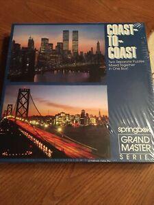 Vintage Springbok ~ Grand Master Puzzle ~ Coast-To-Coast~ 2 puzzles mixed as one