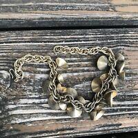 Vtg Gold Bell Necklace Choker Boho Hippie Belly Dancer 60s 70s Bohemian