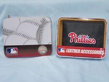 PHILADELPHIA PHILLIES  embroidered  Leather BiFold Wallet    NIB    black  w