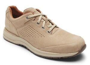 Rockport Edge Hill 2 Rocksand Tan Nubuck Mens Walking Shoes Sneakers 10.5 XW