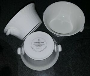 3 VILLEROY & BOCH  Palatino WHITE CLASSIC  SOUP BOWLS  LUXEMBOURG