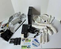 Nintendo Wii Gaming Console Bundle Black RVL-001 Wii Sports & Wii Sports Resorts