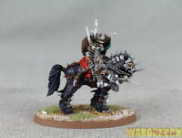 75x42mm Warhammer WDS painted Slaves to Darkness Lord on Daemonic Mount l50