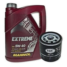 5 Liter Mannol SAE 5W-40 Extreme Motoröl + Ölfilter SM 110 von SCT Germany