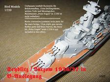 Seydlitz 1936/37  in B-Auslegung  1/350 Bird Models Umbausatz / resin conversion