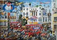 GIBSONS I LOVE LONDON HUMOUROUS MIKE JUPP 1000 PIECE JIGSAW PUZZLE