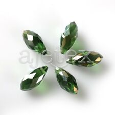 10pcs 6x12mm/8x13mm Teardrop Faceted Loose Crystal Beads Craft Jewelry Making