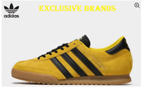 adidas Originals Beckenbauer  Yellow Black TRAINERS Men's ALL SIZES