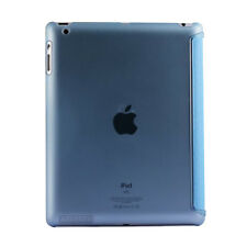 iPad 2/3/4 Cases Black/Blue Clear Top Folio Stand