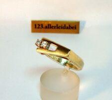 Einfach nur Schön Brillant Ring 585 Gold 0,15 ct. Goldring Brillanten / BI 112