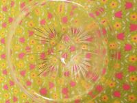 Federal Glass Clear Star Mixing Bowl Rolled Rim Vintage 1940s