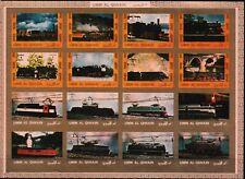 Um al-Kaiwain. - Lokomotiven Zusammendruck Satz postfrisch 1972 Mi. 1210-1225 B