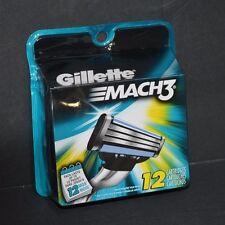GILLETTE MACH 3 REFILL CARTRIDGES ( 12 CARTRIDGES) NEW