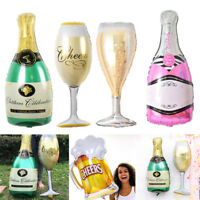 FOIL Shape Champagne Beer Cocktail Celebration Glass Bottle HELIUM Fill BALLOON