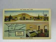 "Postcard~Vandalia Ohio ~Yendes"" Motel~Multi-view~unposted~Linen"