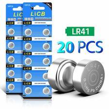 Licb Lot de 20LR41AG3392Sr41sw batterie 1.5V Button Coin Cell Batteries