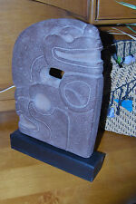 "vintage LARGE gray ""stone"" ALVA sculpture TOTEM reproduction 1981 Signed 13"""