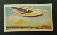 c1940 Hoadleys Trade Card Birth of a Nation #27 Canopus Flying Boat VGC