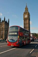 Big Ben Red Bus on Westminster Bridge London UK Photograph Picture Poster Print