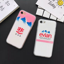 Simple Creative Letter Chinese Mountain Soft Case Cover for iPhone 5 6S 7 8 Plus