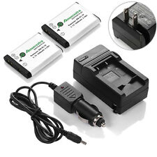 2x EN-EL19 Battery & Charger for Nikon CoolPix S32 S2500 S3100 S3300 S4100 S4300