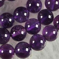 Natural Round 8mm Russican Amethyst Gemstone Round Loose Beads 15""