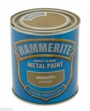hammerite 750ml tin smooth copper direct to rust metal paint