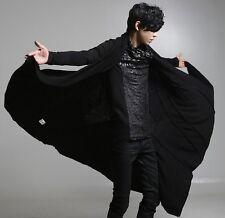 Mens Gothic Cadigan Coat Long Jacket Cape cloak Poncho Parka Outwear Coat Size