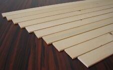 10 Rechteckleisten 5x40x900mm Flachleiste Kiefer/Fichte Holzleisten Bastelholz
