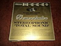 KAPP RECORDS PRESENTS A DEMONSTRATION IN STEREOPHONIC TOTAL SOUND LP  EX/ VG
