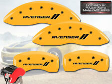 "2008-2014 Dodge ""Avenger //"" Front + Rear Yellow MGP Brake Disc Caliper Covers"