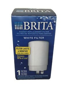 Brita Tap Water Faucet Replacement Filter WHITE FILTER FR-200 NEW