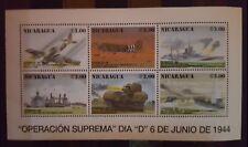 131. Briefmarken Militär Krig Histori Nicaragua KB.,postfrisch
