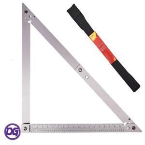 "24"" Folding Square Lightweight Aluminium Construction 90 45 Degree Angles New"