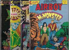 MR. MONSTER LOT OF 4 #1 - AIRBOY, SCHLOCK! SUPER SCIENCE & HI-OCTANE HORROR