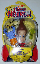 *SIGNED BY JIMMY!* 2001 MATTEL NICK JIMMY NEUTRON MEGA GRIP DEBI DERRYBERRY COA