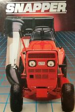 Snapper LT 11 16 Riding Lawn Tractor COLOR Sales Brochure Manual Massey Ferguson