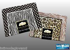 Completo Letto Flanella Matrimoniale Leopardo Maculato Zebra Lenzuola 3 pezzi