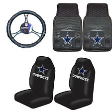 Football Dallas Cowboys Floor Mat Set With Seat Cover & steering wheel cover