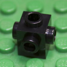 Lego : X 15 Black 1x1 Brick Modified with Studs on Four Sides ( 4733 ). New.